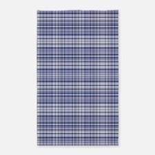 Blue and Silver Plaid 3'x5' Area Rug