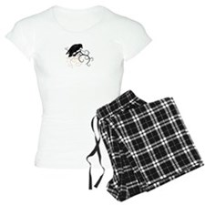 Black Raven Swirl Branches Pajamas