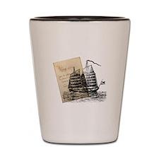 Voyage Sailing Ship Shot Glass