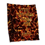 Every revolution begins with a spark Burlap Throw