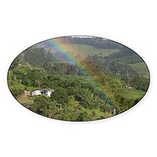 Costa Rica rainbow Decal