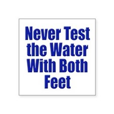 Water Test Sticker