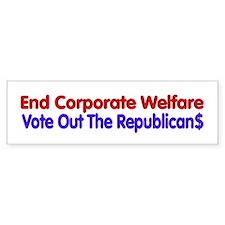 End Corporate Welfare Bumper Car Sticker