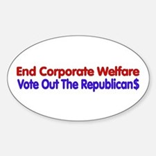 End Corporate Welfare Decal