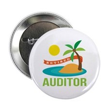 """Retired Auditor 2.25"""" Button (10 pack)"""