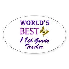World's Best 11th Grade Teacher Decal