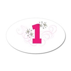 Pink Custom number birthday Wall Sticker
