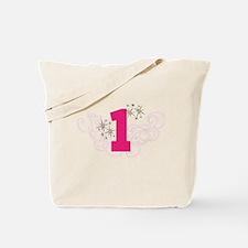 Pink Custom number birthday Tote Bag