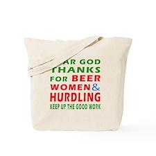 Beer Women and Hurdling Tote Bag