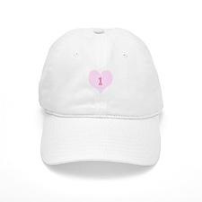 Pink Number 1 Heart Baseball Cap