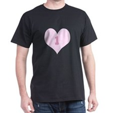 Pink Number 1 Heart T-Shirt