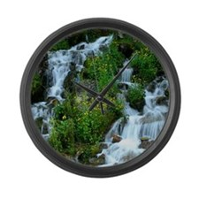 Mountain spring Large Wall Clock
