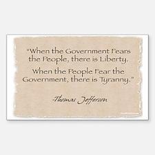 Rectangle Sticker: Jefferson Government