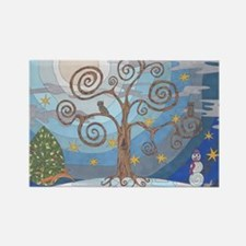A Cold Winters Night Rectangle Magnet