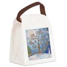 A Cold Winters Night Canvas Lunch Bag