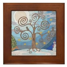 A Cold Winters Night Framed Tile