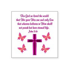 "JOHN 3:16 Square Sticker 3"" x 3"""