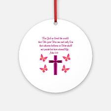 JOHN 3:16 Ornament (Round)