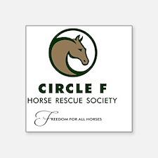 """Circle F logo and tagline Square Sticker 3"""" x 3"""""""