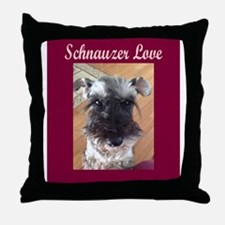 Schnauzer Love Throw Pillow