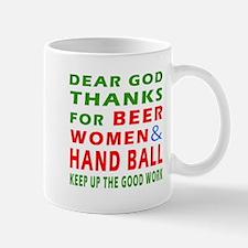 Beer Women and Hand Ball Mug