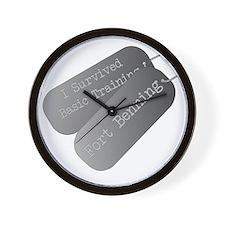I survived basic training fort Benning Wall Clock