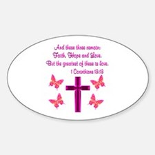 1 CORINTHIANS 13:13 Decal