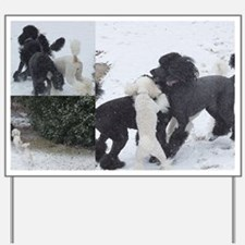 Texas Snow Poodles Yard Sign