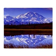Mt. McKinley in Fall Throw Blanket
