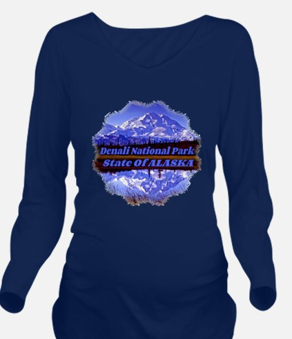 Mt. Mckinley In Fall Long Sleeve Maternity T-Shirt