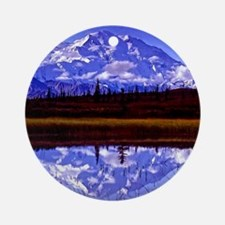 Mt. McKinley in Fall Ornament (Round)