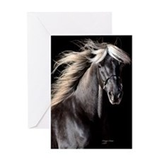 choco_horse_panel Greeting Card