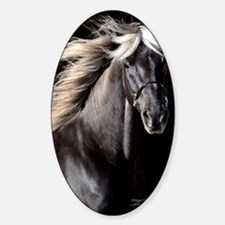 choco_horse_panel Sticker (Oval)