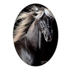 choco_horse_panel Oval Ornament
