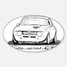 Alfa Romeo Giulia Sprint GTA Sticker (Oval)