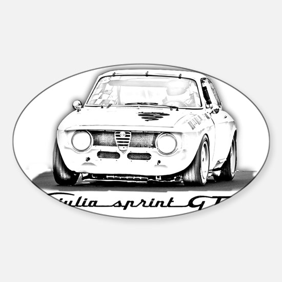 Alfa Romeo Giulia Sprint GTA Sticker (Oval)