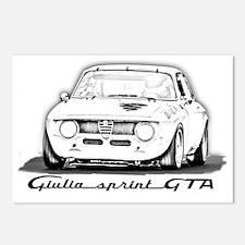Alfa Romeo Giulia Sprint  Postcards (Package of 8)