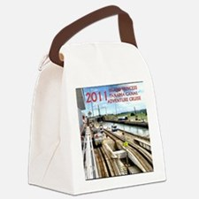 Panama Canal - rect. photo- black Canvas Lunch Bag