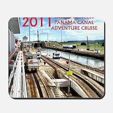 Panama Canal - rect. photo- black edge Mousepad