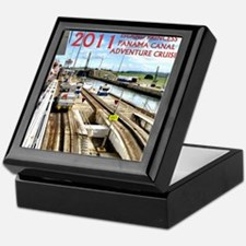 Panama Canal - rect. photo- black edg Keepsake Box