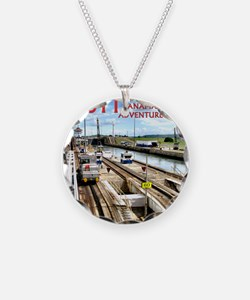Panama Canal - rect. photo-  Necklace