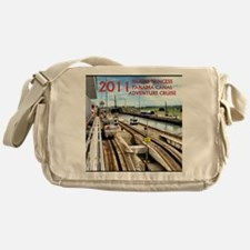 Panama Canal - rect. photo- black ed Messenger Bag