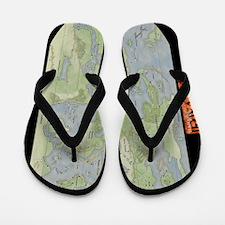 TrystellMap Flip Flops
