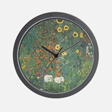 Country Garden with Sunflowers Wall Clock