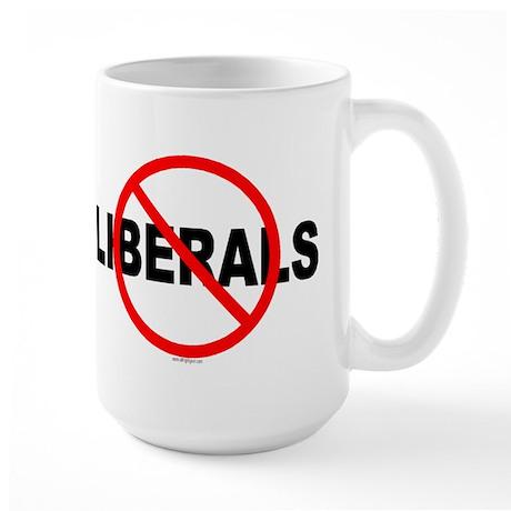 No Liberals Large Mug