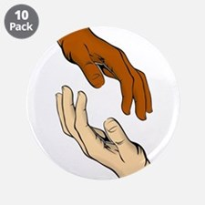 """Hands Reaching Out 3.5"""" Button (10 pack)"""