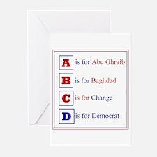 Democratic Alphabet Greeting Cards (Pk of 10)