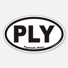 Plymouth Mass PLY Euro Oval Decal