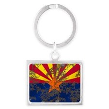 Retro Arizona Flag Keychains