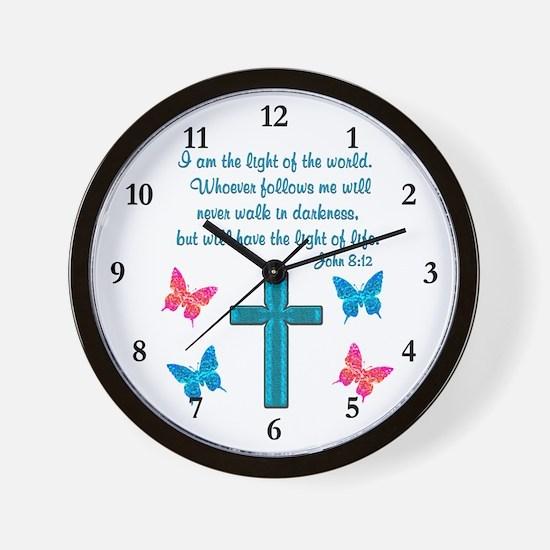 JOHN 8:12 Wall Clock